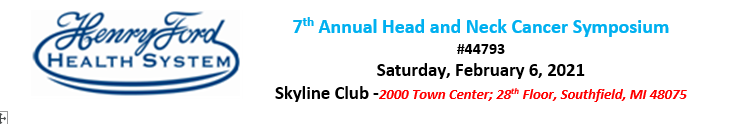 7th Annual Head and Neck Cancer Symposium Banner